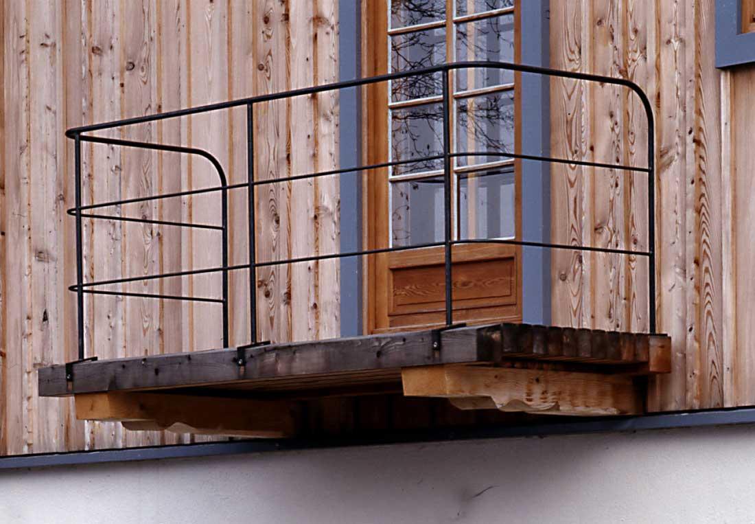 Gabriele Riesner, Architektin, Antwort/Chiemgau, Scheunenausbau, Balkon Westfassade