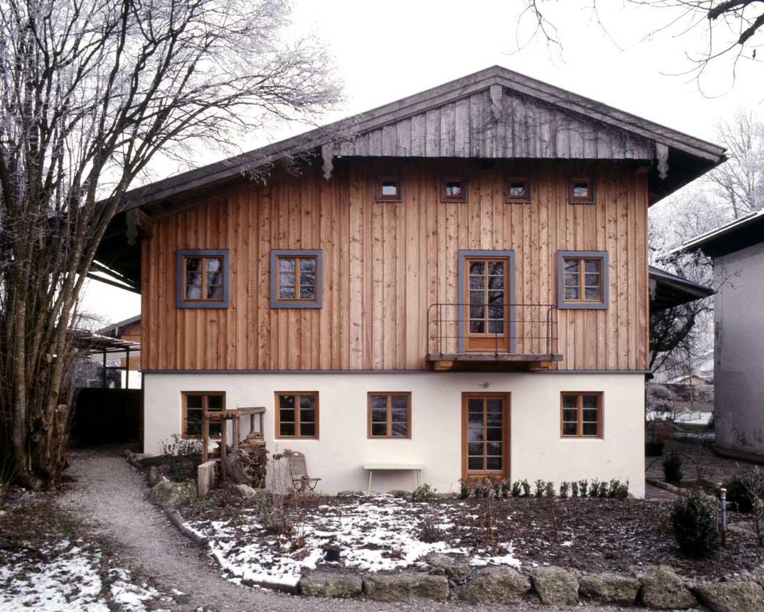 Gabriele Riesner, Architektin, Antwort/Chiemgau, Scheunenausbau, Fassade