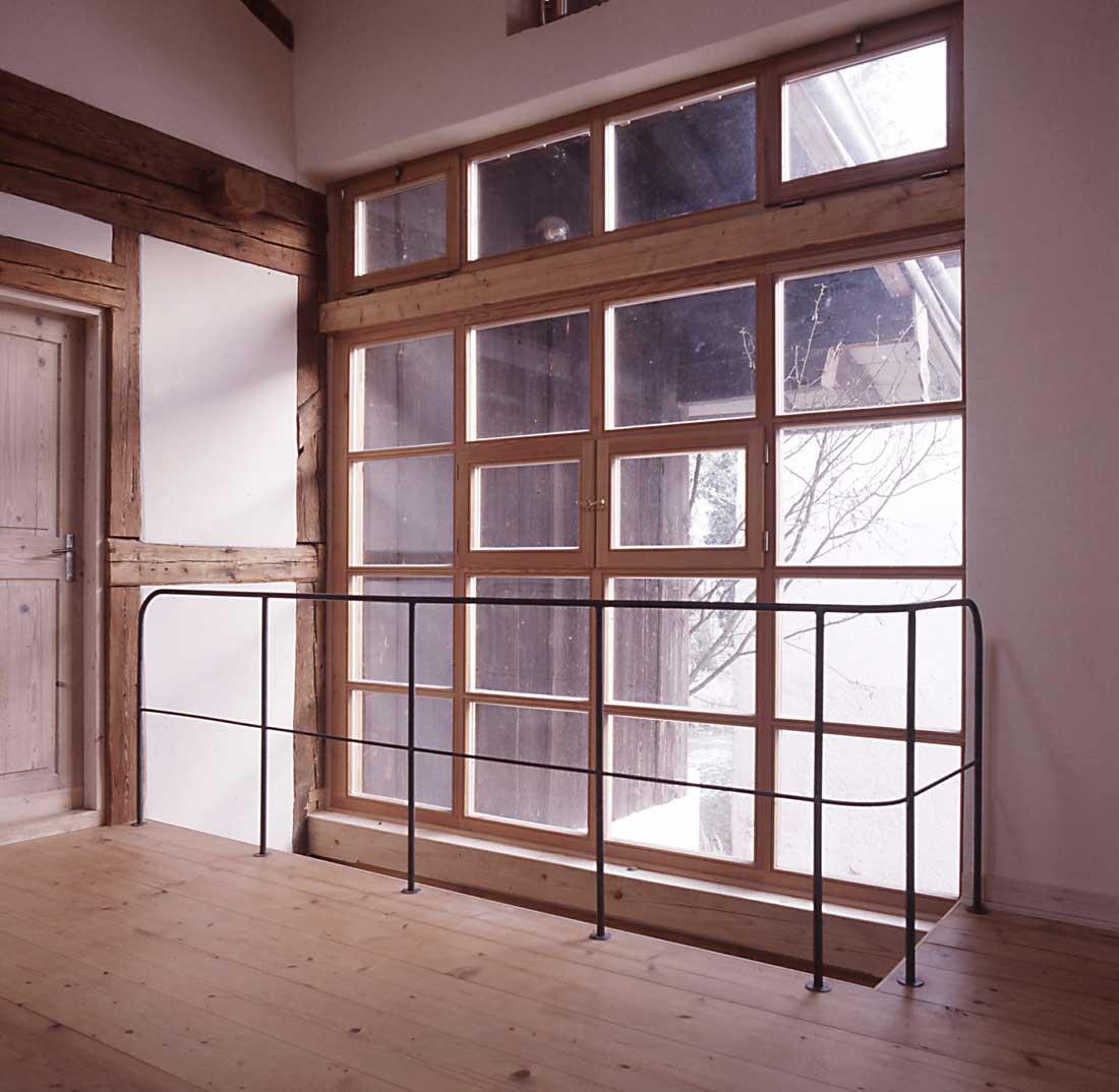 Gabriele Riesner, Architektin, Antwort/Chiemgau, Scheunenausbau, Galerie Obergeschoss