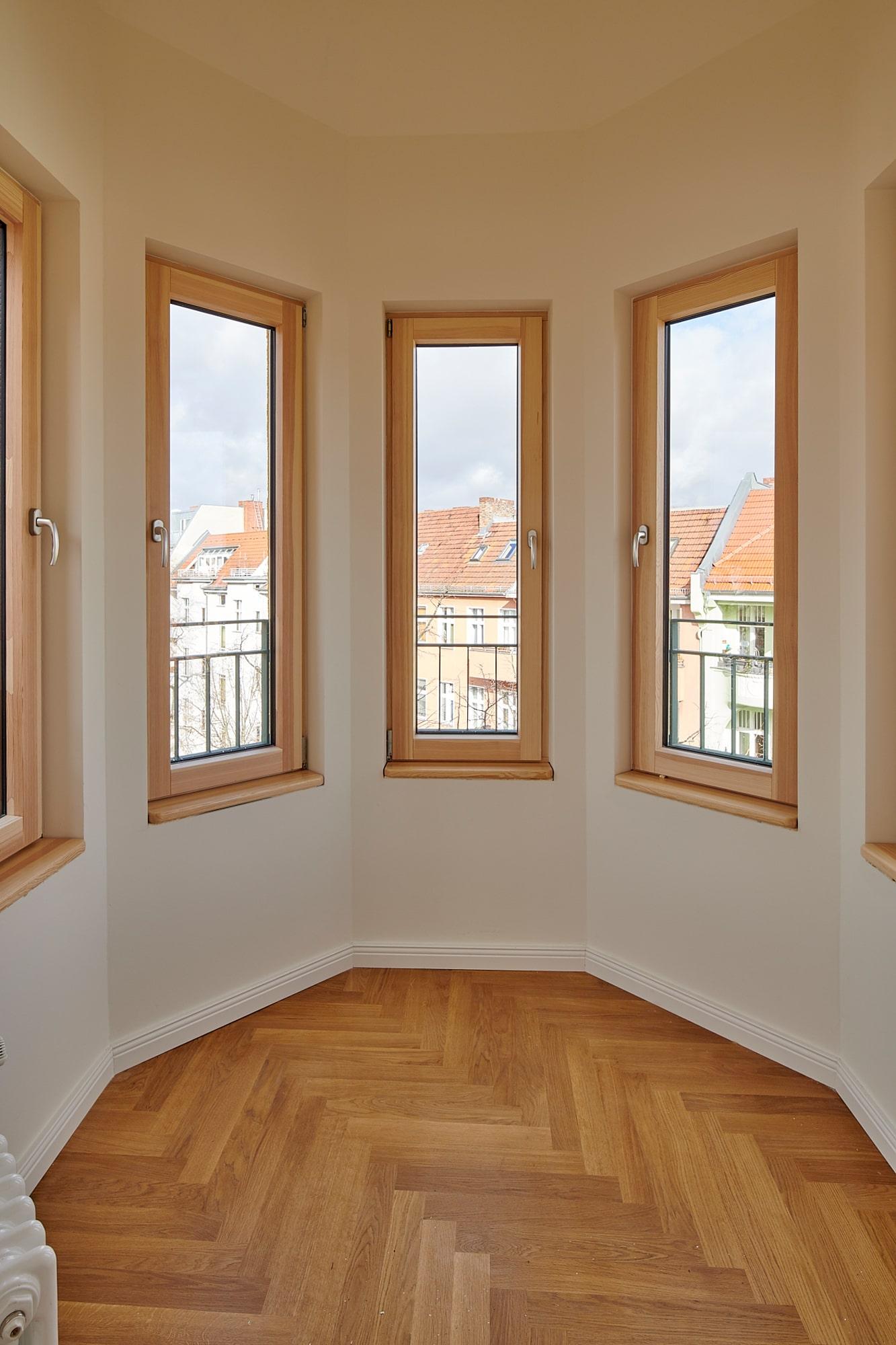 Gabriele Riesner, Architektin, Berlin, Dachgeschossausbau eines Mietshauses in Berlin-Steglitz, Turmzimmer
