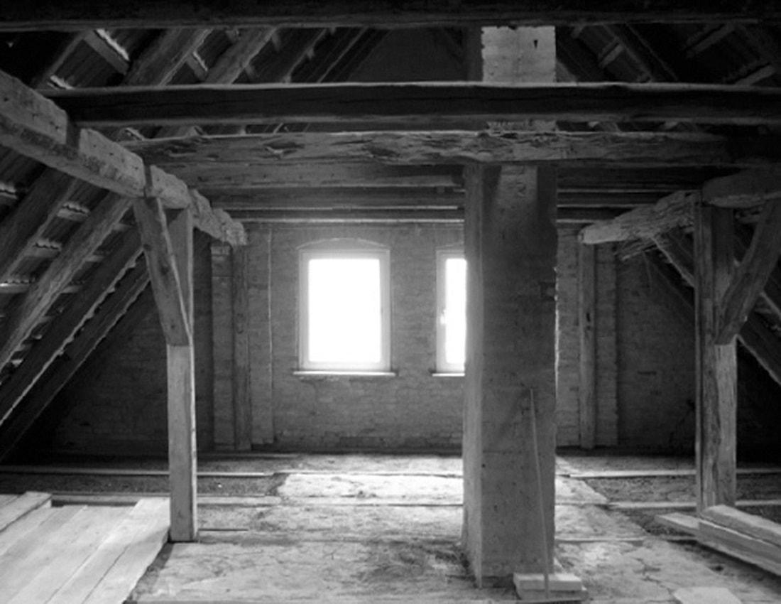 Gabriele Riesner, Architektin, Berlin, Dachausbau eines Doppelstubenhauses, Herrenstein/Uckermark, Bestand