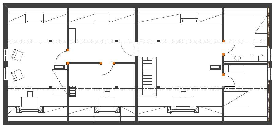 Gabriele Riesner, Architektin, Berlin, Dachausbau eines Doppelstubenhauses, Herrenstein/Uckermark, Dachgeschoss